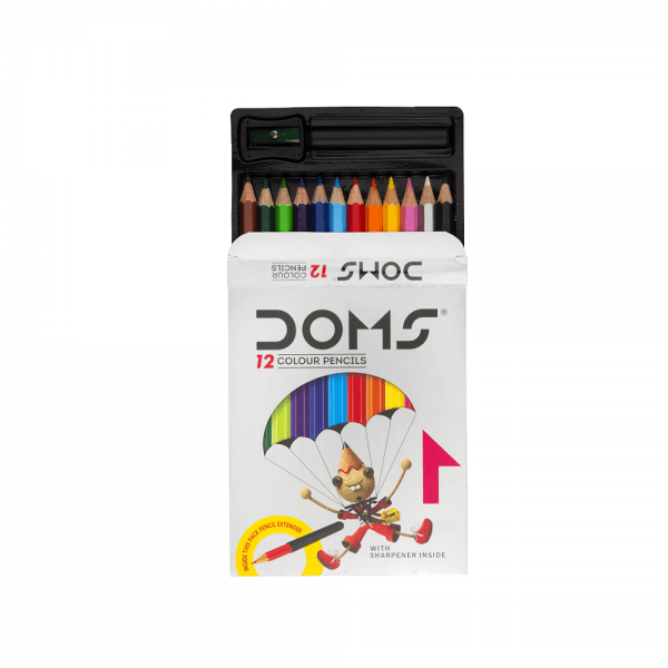 Doms Colour Pencil 12 Shades- Half Size