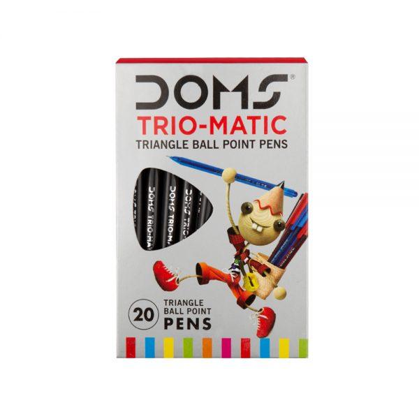 Doms Trio-Matic Triangular Ball Point Pen-Black