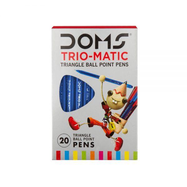 Doms Trio-Matic Triangular Ball Point Pen-Blue